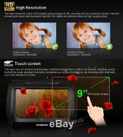 2x 9 Touch Screen Car Headrest DVD Player Monitor USB Zipper Cover +2 Headphone