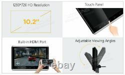 2x HD 10.2 Digital Car Headrest DVD Player Monitor HDMI Touch Button FM/IR USB