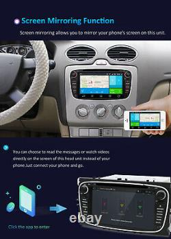 4G+WIFI Android 10.0 Car Stereo For Ford Focus II S-MAX DVD CD Player USB Radio