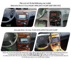 4gb Ram Android 10.0 Mercedes S CL Class W220 W215 DVD Gps Radio Car Wifi 3g 4g
