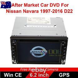 6.2Double 2 DIN Car DVD Player Radio Stereo GPS for Nissan Navara 1997-2016 D22