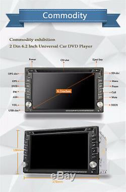6.2 2Din HD Car GPS Navigator Radio Stereo DVD Player Blueteeth FM AM Maps iPod