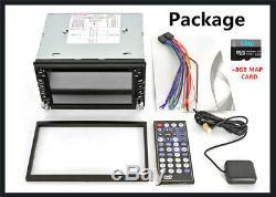 6.2 2Din HD GPS Navigation Car Stereo DVD Player Blueteeth AM FM Radio + 8G Map
