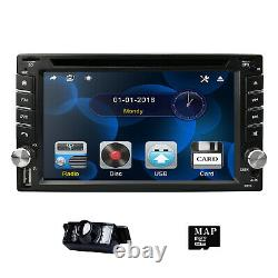 6.2 2 DIN Car Radio Stereo Bluetooth DVD Player GPS Sat Nav EU Map DAB + Camera