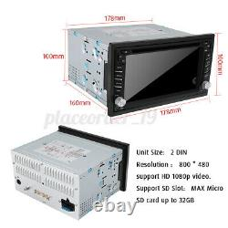6.2'' 2 DIN Car Stereo Radio CD DVD Player GPS SAT Nav MP3 Radio Rear Camera UK
