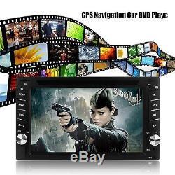 6.2 2 Din GPS Autoradio Car Touchscreen DVD Navigation Player Bluetooth USB SD