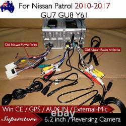 6.2 CAR DVD GPS Player Head Unit Navi For Nissan Patrol 2010-2017 GU7 GU8 Y61