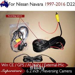 6.2 CAR DVD GPS Player Head Unit Stereo Navi For Nissan Navara 1997-2016 D22