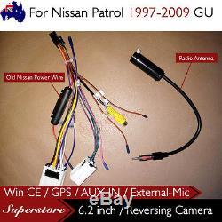 6.2 CAR DVD GPS Player Head Unit Stereo Navi For Nissan Patrol 1997-2009 GU