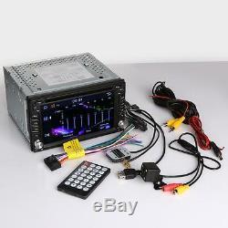 6.2 Car GPS Nav 2 DIN Stereo MP3 DVD Player Bluetooth Radio iPod TV USB +Camera