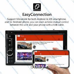6.2'' Double 2DIN Car Radio Stereo CD DVD Player Mirror-GPS Bluetooth USB Camera