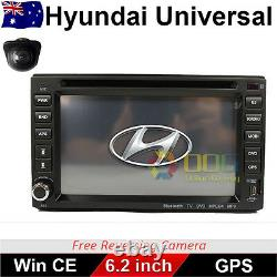 6.2 Double 2 DIN Car DVD Player Radio Stereo GPS BT CD for Hyundai Universal