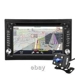 6.2'' Double 2 DIN Car Stereo Radio CD DVD Player GPS SAT Nav MP3 Rear Camera UK