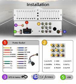 6.2 Double 2 Din Car DVD Player GPS Radio Stereo Head unit USB BT Mirror Link