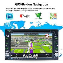 6.2 Double 2 Din Car Radio Stereo DVD Player GPS Nav OBD BT 3G WiFi Android 5.1