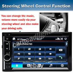 6.2 Double DIN Car Radio Stereo CD DVD Player Touch Screen Reversing Camera