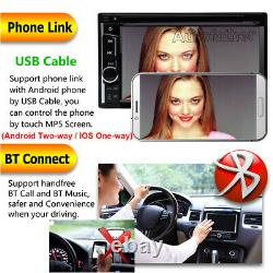 6.2 Double Din Car Stereo CD LCD DVD Player Radio Mirror Link For GPS + Camera