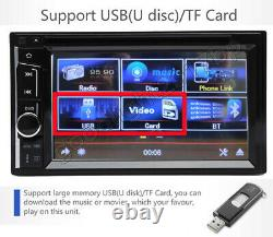6.2 Double Din Car Stereo CD LCD DVD Player Radio Mirror Link For Sat Nav GPS