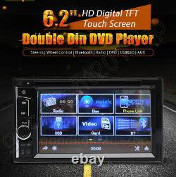 6.2 Double Din Car Stereo DVD Player Radio Mirror Link For Sat Nav GPS + Camera