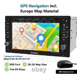 6.2 Inch Car Stereo FM Radio DVD CD Player Bluetooth GPS SAT NAV Double 2 DIN