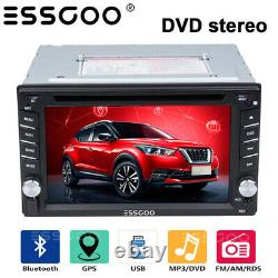 6.2 in In-dash Car Stereo Radio DVD LCD Player BT SAT NAV Compatible Double DIN