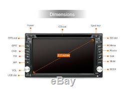 6.2 inch Dashboard HD DVD Player Car GPS Wifi Andriod 7.1 Radio Mirror Link DVR