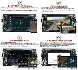 7Android 9.1 Car Stereo GPS DVD Player Radio For Ford Focus C/S-Max Kuga Galaxy