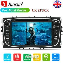 7 2 Din Car Radio Stereo GPS SAT NAV DVD Player BT For Ford Galaxy/Focus/Kuga