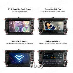 7 Android 10.0 Car Stereo DVD Player GPS Radio DSP DAB OBD2 For VW Skoda Seat