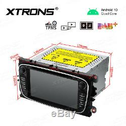 7 Android 10.0 GPS Navi CD DVD Player DAB Car Radio For Ford Focus Mondeo S-Max