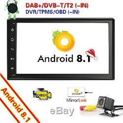 7 Android 8.1 Quad Core Car GPS 2DIN Car Auto Stereo WIFI 4G Bluetooth Radio