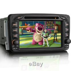 7 CD DVD Player Car Stereo GPS Sat-Nav Bluetooth Radio For Mercedes Vito W639