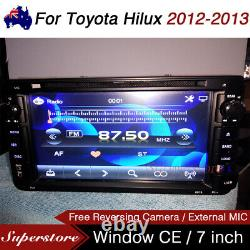 7 Car DVD GPS Navigation Head Unit Player Stereo For Toyota Hilux 2012-2013