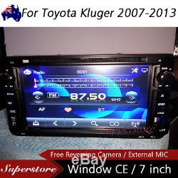 7 Car DVD GPS Navigation Stereo head unit player For Toyota Kluger 2007-2013