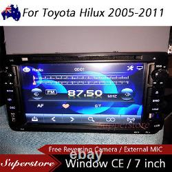 7 Car DVD GPS Navigation head unit player Stereo For Toyota Hilux 2005-2011