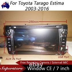 7 Car DVD GPS Navigation player head Stereo For Toyota Tarago Estima 2003-2016