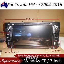7 Car DVD GPS Navigation usb Stereo head unit player For Toyota HiAce 2004-2016