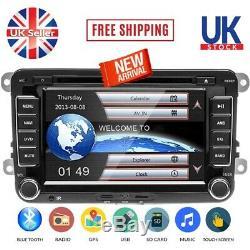 7 Car DVD Player Radio GPS Sat Nav Stereo Reversing Camera For VW Passat Golf