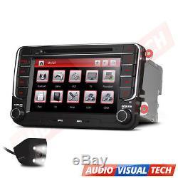 7 Car DVD Player Radio GPS Sat Nav Stereo VW Passat Golf Transporter T5 +Camera