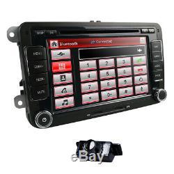 7'' Car DVD Player Radio Stereo GPS Nav HeadUnit VW Passat B6 Golf Tiguan+Camera