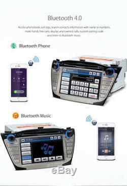 7 Car DVD Player Stereo Radio GPS Sat Nav Bluetooth for Hyundai IX35 2009-2015