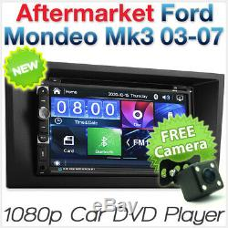 7 Car DVD Player USB MP3 For Ford Mondeo Mk3 Fascia Kit ISO Stereo Radio CD KT