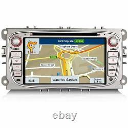7 Car GPS Sat-Nav Head Unit Bluetooth DVD Player USB Stereo For Ford Galaxy Mk3