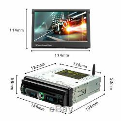 7 Car Radio Stereo Touch Android8.0 WiFi 1DIN Bluetooth GPS Navi MP5 DVD Player