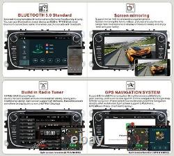 7 Car Stereo DVD Player Android 10 Ford Radio FOCUS Galaxy Mondeo DAB TPMS WIFI