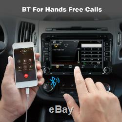 7 Double 2 Din Dash Car CD DVD Player Radio Stereo GPS SAT TF For VW Golf MK6