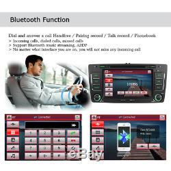 7 Double DIN Stereo Car Radio DVD Player GPS DAB+ For Skoda Octavia Yeti Fabia