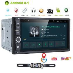 7 GPS Navi Android 8.1 4Core Double 2DIN Car Auto Stereo WIFI 4G BT Radio+ CAM