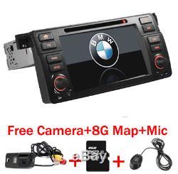 7 HD Car DVD Player BMW E46 M3 With GPS Bluetooth Radio Free Camera USA SHIP