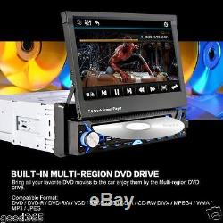 7 HD LCD Touchscreen Flip Out Car Stereo Radio Bluetooth DVD CD USB MP3 Player
